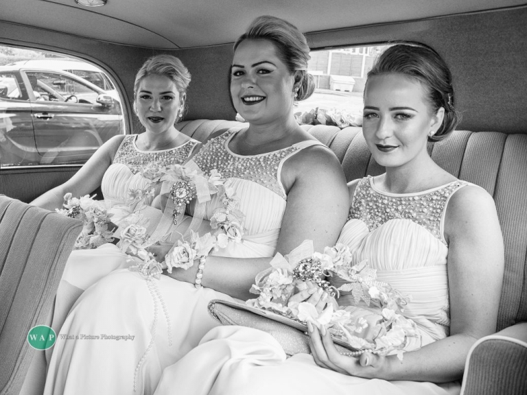 Bridesmaids Laura, Kate, Ellie - Sheldon Wedding with What a Picture Photography