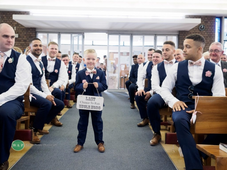 Last message to Morgan before the bride arrives - Sheldon Wedding with What a Picture Photography