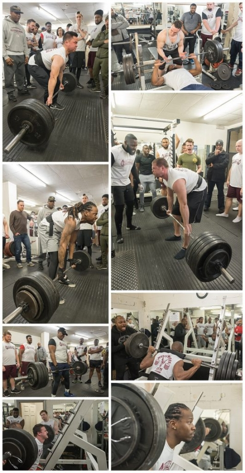 London Olympians weight lifting combine