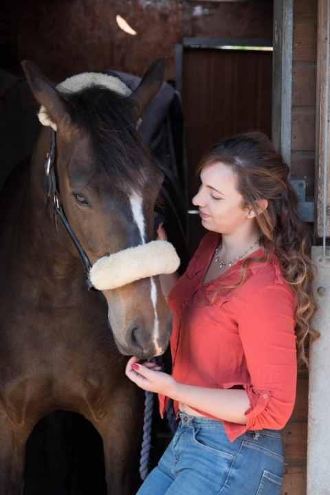 portrait of Maria and Dazzle by What a Picture photography