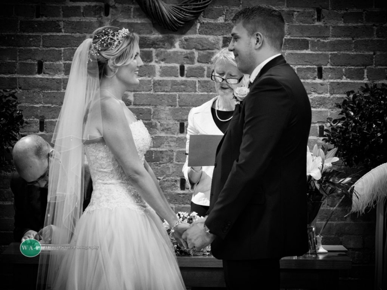 vows by What a Picture Photography at Redhouse barn