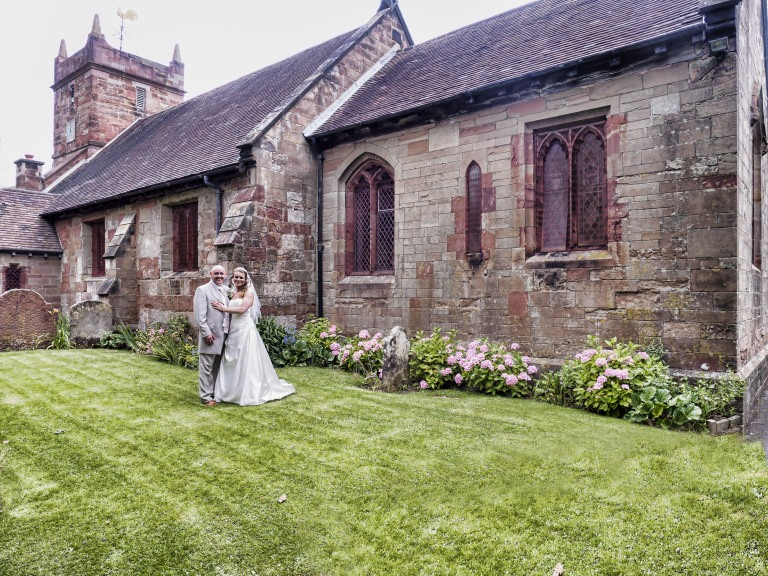 St Leonards Church Frankley with Melanie and Steve Birmingham Wedding Photographer