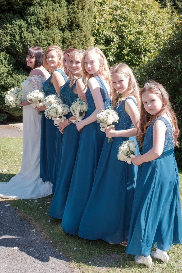 The bridal posse - Kings Norton Wedding Photographer