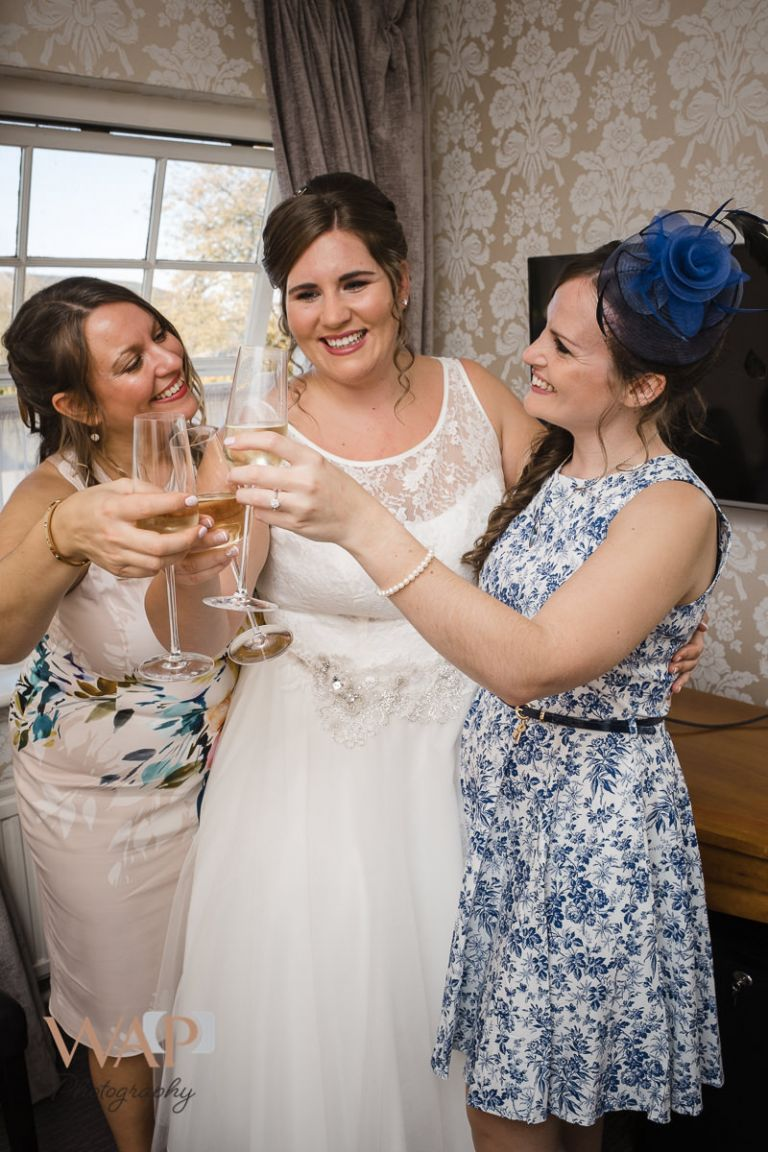 3 sisters party before the ceremony at Regency Hotel Solihull- What a Picture Photography