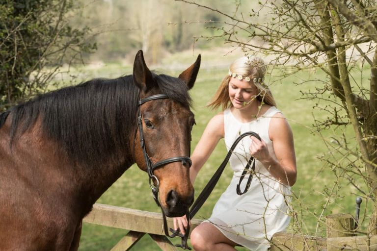 Katie and Bert equine portrait session, Wooton Wawen with Kevin Cleaver