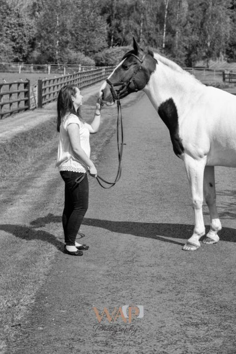 Louise and her horse dolly at their equine portrait session