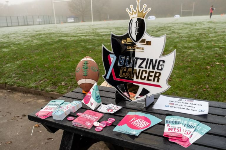 Blitzing Cancer Charity flag football event